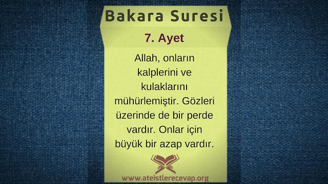 Bakara 7 Allah kalpleri mühürlüyorsa müslüman olmak bizim elimizde değil mi?