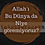 Allah'ı bu dünyada niye göremiyoruz?