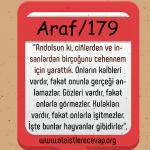 Araf 179 Allah insanları ve cinleri Cehenneme sokmak için mi yarattı?